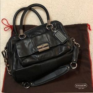 Coach Kristin Double Black Leather Purse